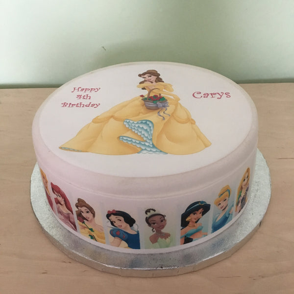 Beauty & the Beast Belle Edible Icing Cake Topper 01
