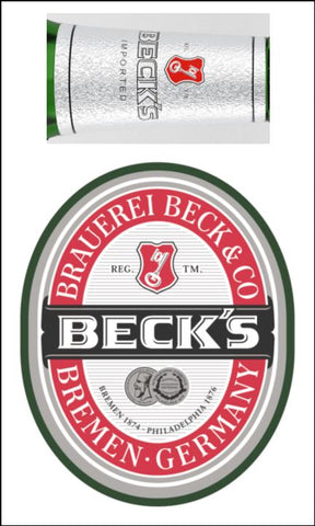 Beer, Lager Label Edible Icing Topper 01 Beck's