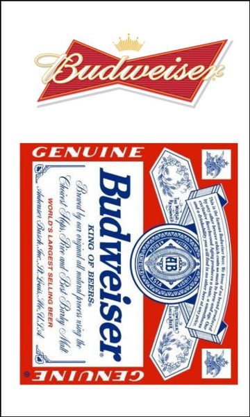 Beer, Lager Label Edible Icing Topper 02 Budweiser