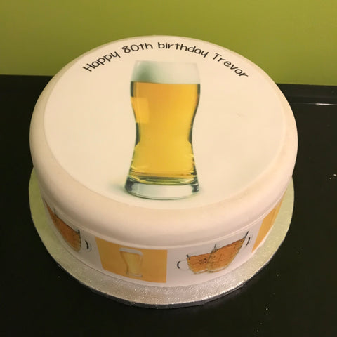 Beer Edible Icing Cake Topper 02
