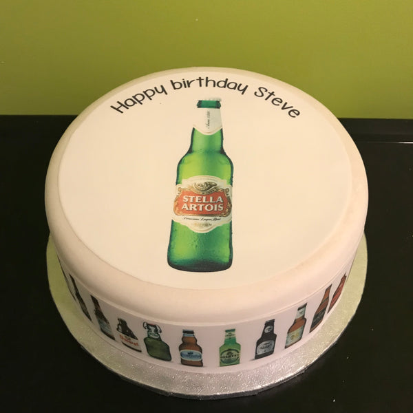 Beer, Lager, Ale Edible Icing Cake Topper 05
