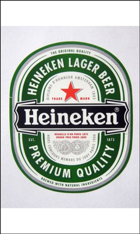 Beer, Lager Label Edible Icing Topper 06 Heineken