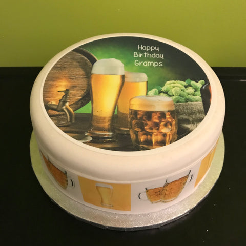 Beer Edible Icing Cake Topper 08
