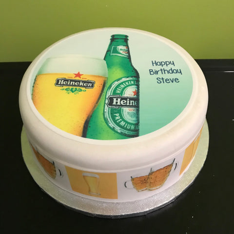 Beer Edible Icing Cake Topper 09 Heineken