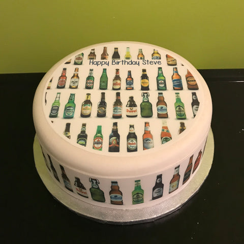 Beer Edible Icing Cake Topper 10