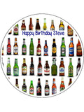 Beer, Lager, Ale Edible Icing Cake Topper 10