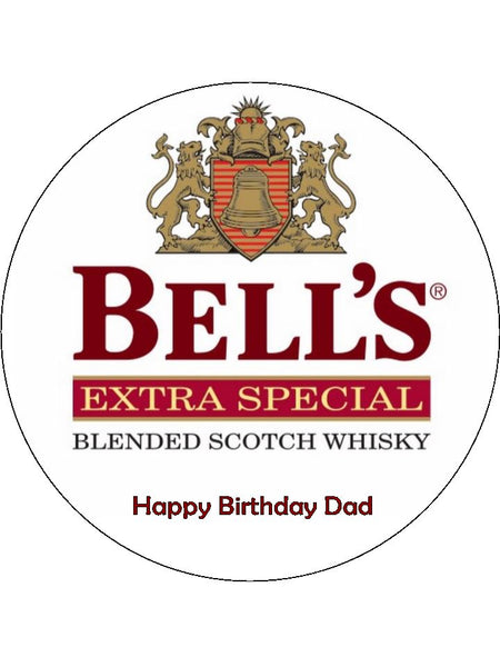 Bell's Whisky Logo Edible Icing Cake Topper