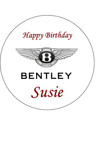 Bentley Logo Edible Icing Cake Topper