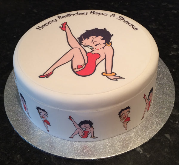 Betty Boop Edible Icing Cake Topper 01