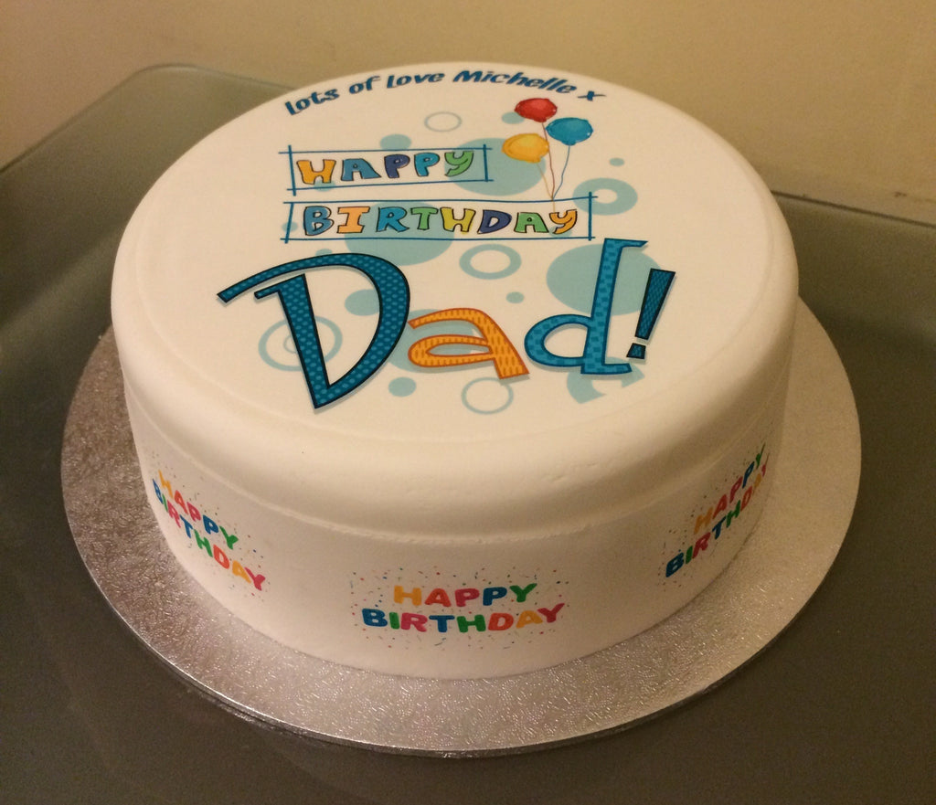 Dad Edible Icing Cake Topper 01 The Caker Online