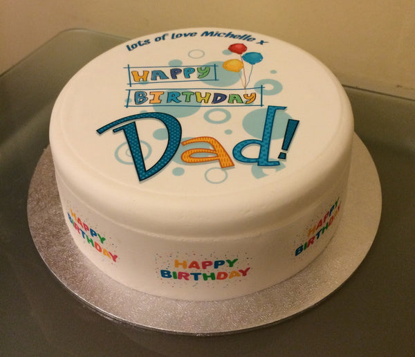 Dad Edible Icing Cake Topper 01
