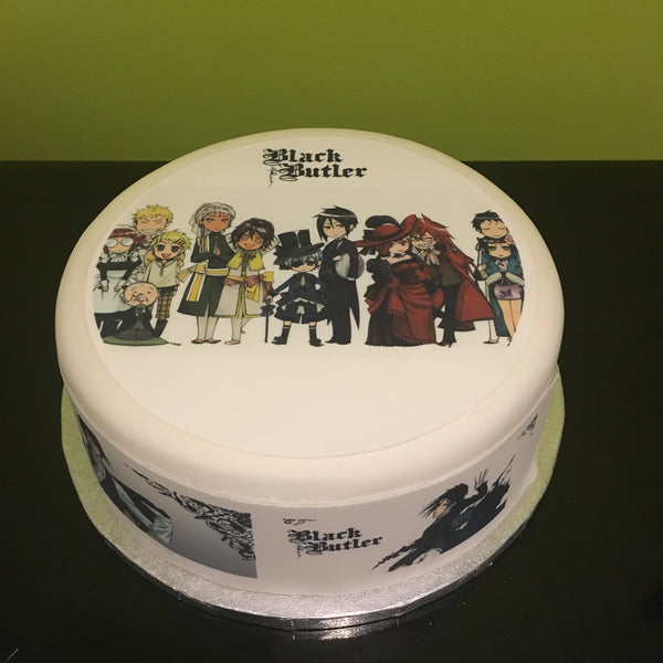 Black Butler Edible Icing Cake Topper 01