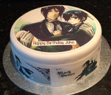 Black Butler Edible Icing Cake Topper 03
