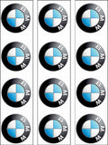 BMW Logo Edible Icing Cake Topper 01
