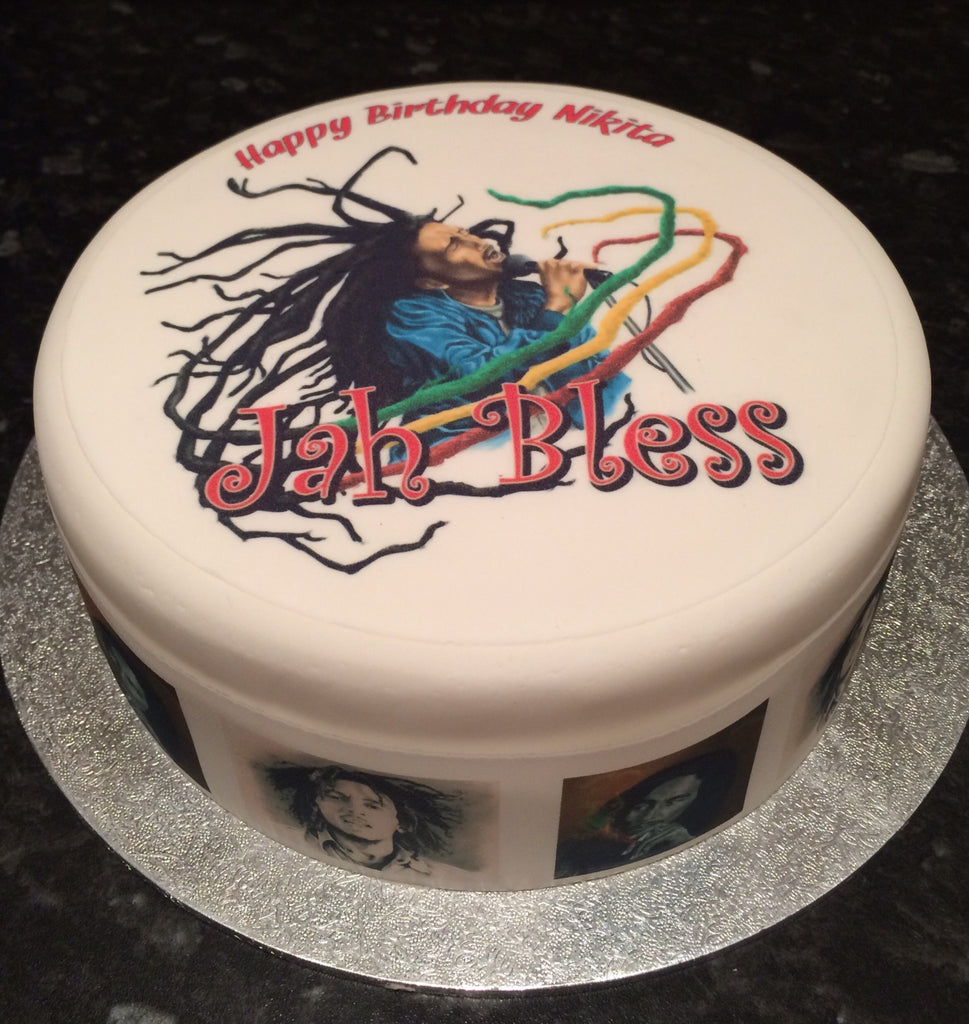 Pleasant Bob Marley Edible Icing Cake Topper 02 The Caker Online Personalised Birthday Cards Veneteletsinfo