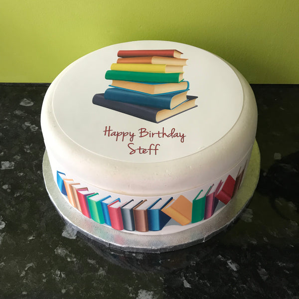 Books Edible Icing Cake Topper