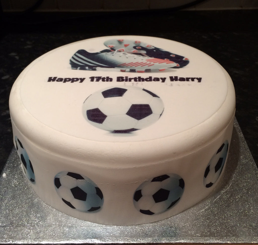 Football Boot Edible Icing Cake Topper 02 The Caker Online