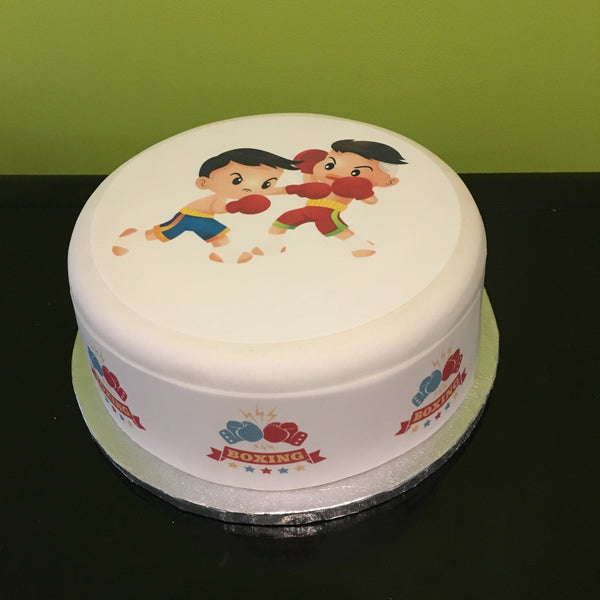 Boxing Edible Icing Cake Topper 06 Boys Fight