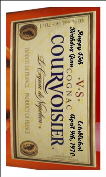 Brandy Cognac Label Edible Icing Topper 04 - Courvoisier