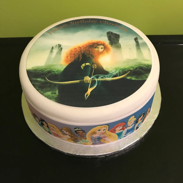 Brave Edible Icing Cake Topper 01 Merida