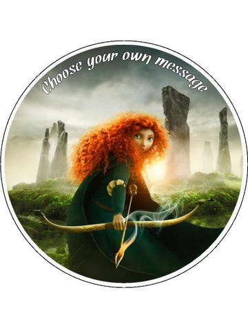 Brave Merida Edible Icing Cake Topper 01