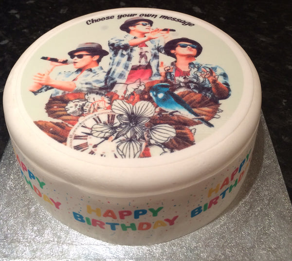 Bruno Mars Edible Icing Cake Topper 01