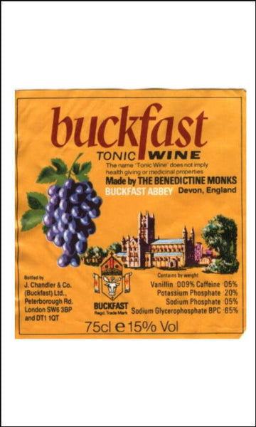 Buckfast Tonic Wine Label Edible Icing Topper
