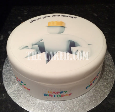 Builder Workman Edible Icing Cake Topper
