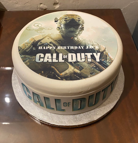 Call of Duty Edible Icing Cake Topper 01