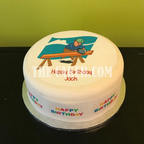 Carpenter Edible Icing Cake Topper 01