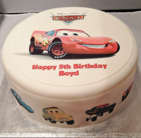 Cars Lightning McQueen Edible Icing Cake Topper 01