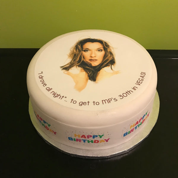 Celine Dion Edible Icing Cake Topper