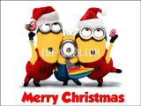Christmas Minions Edible Icing Cake Topper 02