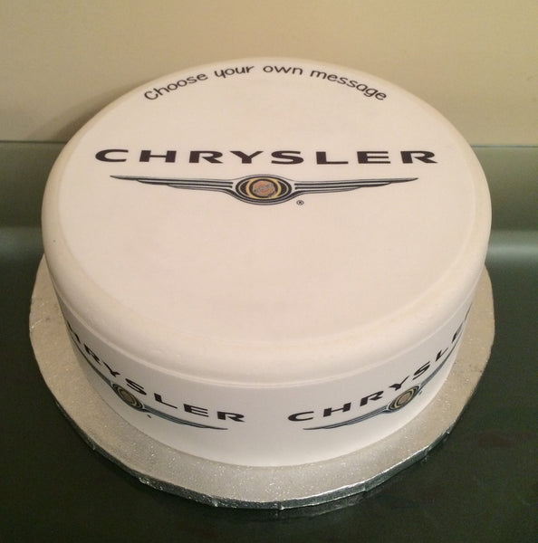 Chrysler Logo Edible Icing Cake Topper