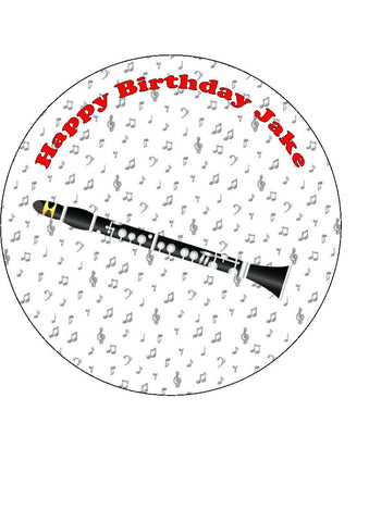 Clarinet 02 Edible Icing Cake Topper