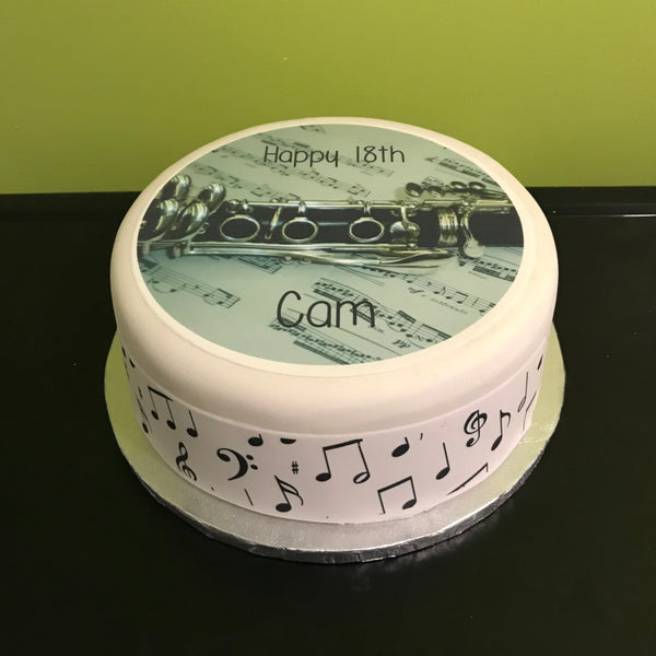 Clarinet Edible Icing Cake Topper