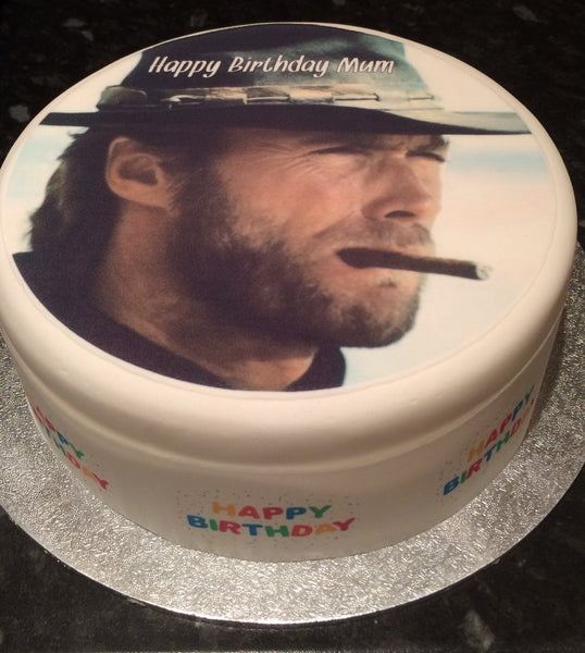 Clint Eastwood Edible Icing Cake Topper 03 Dirty Harry
