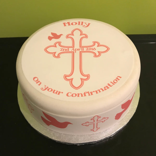 Confirmation Edible Icing Cake Topper 01