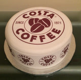 Costa Coffee Logo Edible Icing Cake Topper