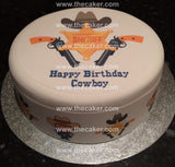 Cowboy Sheriff Badge Edible Icing Cake Topper