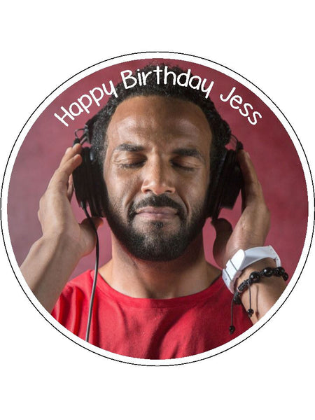 Craig David Edible Icing Cake Topper 02