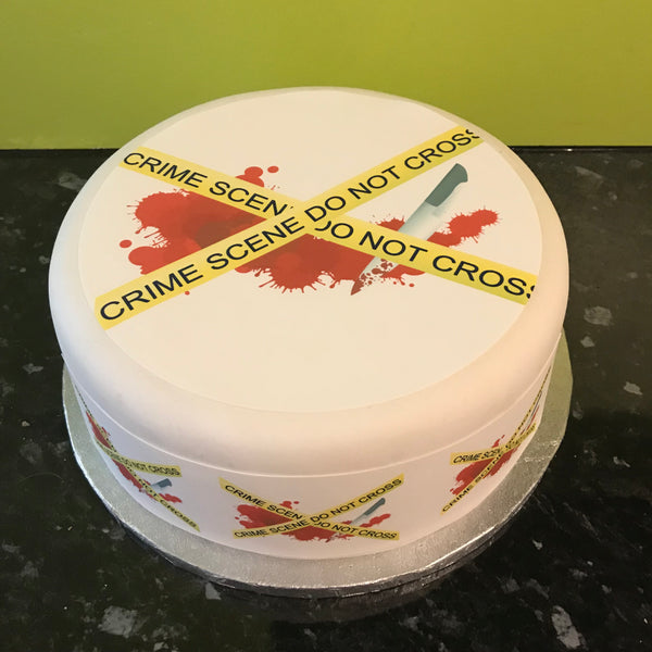 Crime Scene Forensics Edible Icing Cake Topper 04