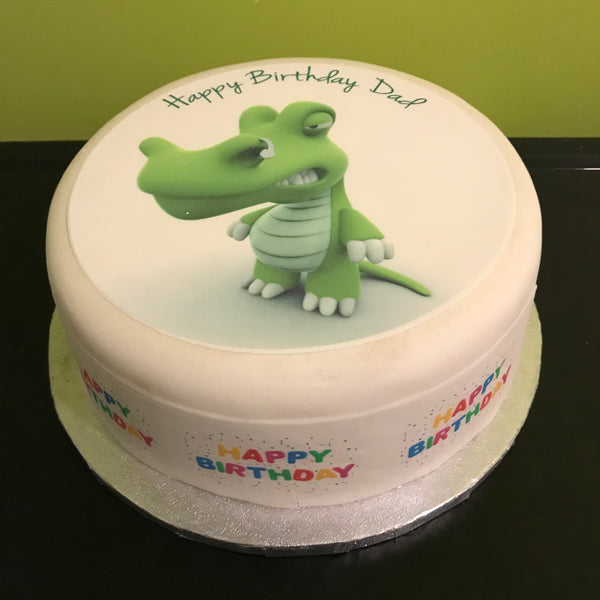 Crocodile Edible Icing Cake Topper 02