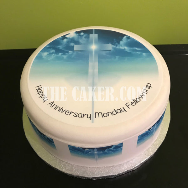 Cross Edible Icing Cake Topper 03