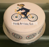 Bicycle Cyclist Edible Icing Cake Topper 06