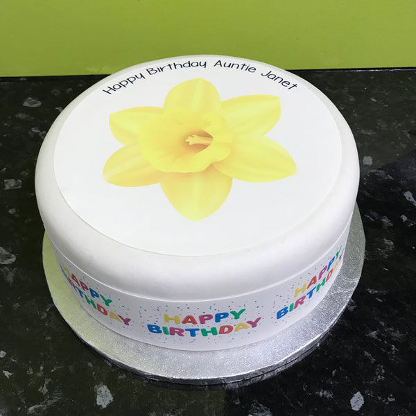 Daffodil Flower Edible Icing Cake Topper
