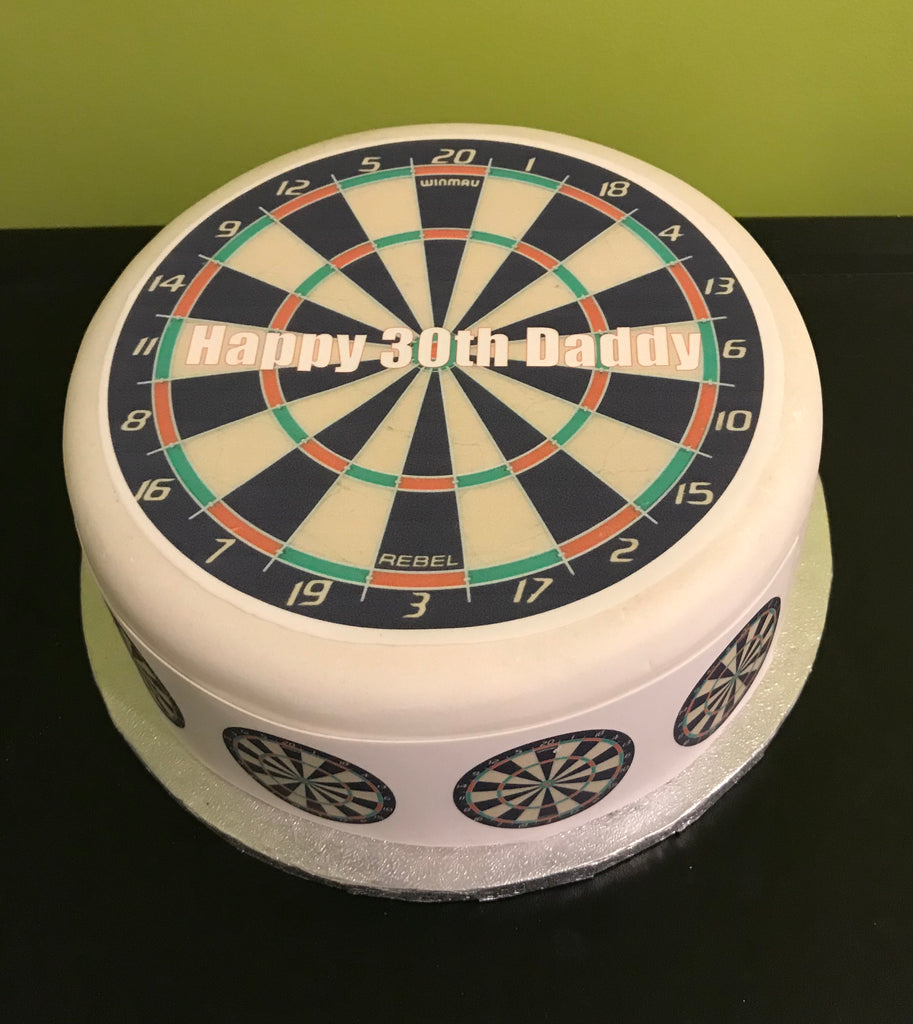 Dartboard Darts Edible Icing Cake Topper The Caker Online
