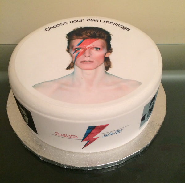 David Bowie Edible Icing Cake Topper 02