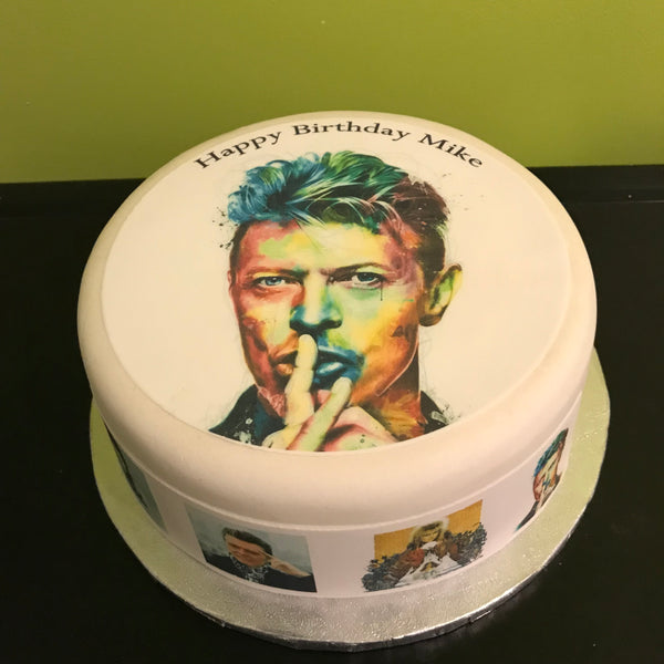 David Bowie Edible Icing Cake Topper 03