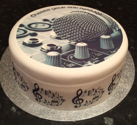 Music Decks DJ Edible Icing Cake Topper 01